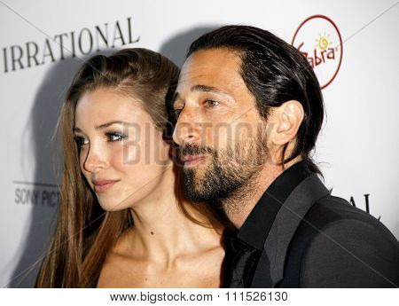 Adrien Brody and Lara Lieto at the Los Angeles premiere of 'Irrational Man' held at the WGA Theatre in Beverly Hills, USA on July 9, 2015.