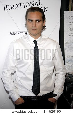 Joaquin Phoenix at the Los Angeles premiere of 'Irrational Man' held at the WGA Theatre in Beverly Hills, USA on July 9, 2015.