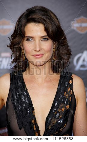 Cobie Smulders at the Los Angeles premiere of 'Marvel's The Avengers' held at the El Capitan Theatre in Los Angeles on April 11, 2012.