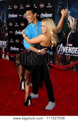 Chelsie Hightower and Roshon Fegan at the Los Angeles premiere of 'Marvel's The Avengers' held at the El Capitan Theatre in Los Angeles on April 11, 2012.