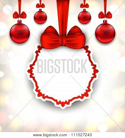Merry Christmas Background with Celebration Card