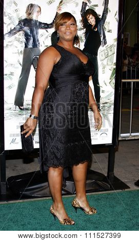 Queen Latifah at the Los Angeles premiere of 'Mad Money' held at the Mann Village Theater in Westwood on January 9, 2008.