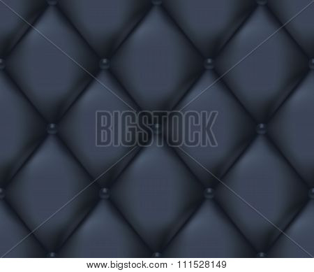 Dark Blue Quilted Seamless Vector Pattern