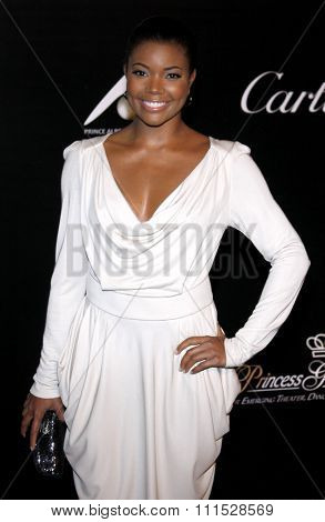 Gabrielle Union at the Rodeo Drive Walk of Style Award honoring Princess Grace Kelly of Monaco and Cartier in Beverly Hills on October 22, 2009.