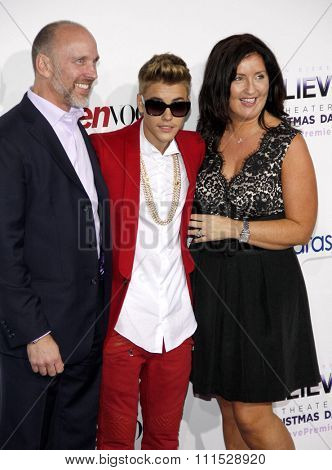 Justin Bieber at the World premiere of