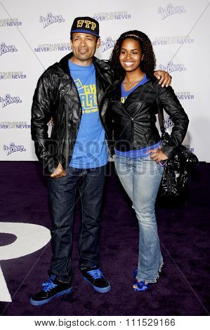 Mario Van Peebles at the Los Angeles premiere of 'Justin Bieber: Never Say Never' held at the Nokia Theatre L.A. Live in Los Angeles on February 8, 2011.