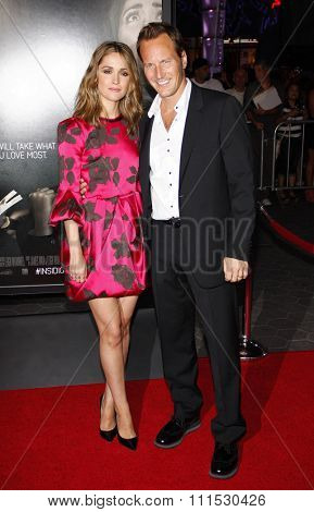 Rose Byrne and Patrick Wilson at the Los Angeles premiere of