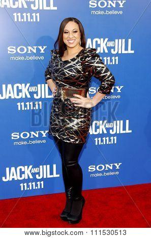 Melanie Amaro at the Los Angeles premiere of 'Jack And Jill' held at the Regency Village Theatre in Westwood on November 6, 2011.