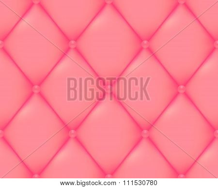 Pink Quilted Seamless Vector Pattern