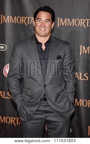 Dean Cain at the Los Angeles premiere of 'Immortals 3D' held at the Nokia Theatre L.A. Live in Los Angeles on November 7, 2011.