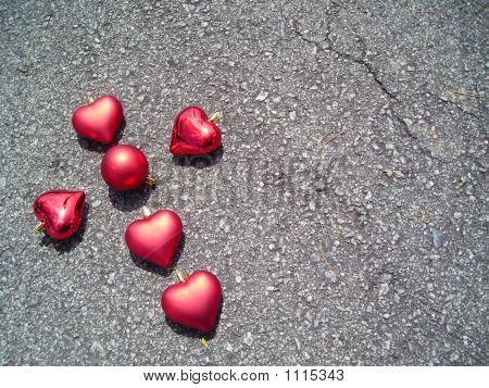 Single Heart Shape Cross On Bituman Floor