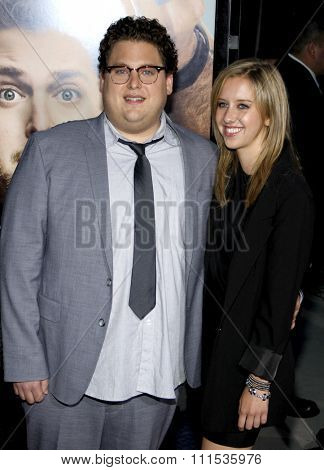 Jonah Hill at the Los Angeles premiere of 'Get Him To The Greek'  held at the Greek Theatre in Los Angeles on May 25, 2010.