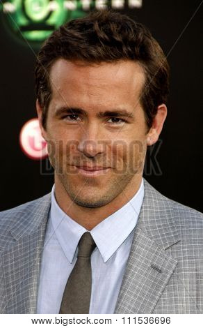 Ryan Reynolds at the Los Angeles premiere of 'Green Lantern' held at the Grauman's Chinese Theatre in Hollywood on June 15, 2011.