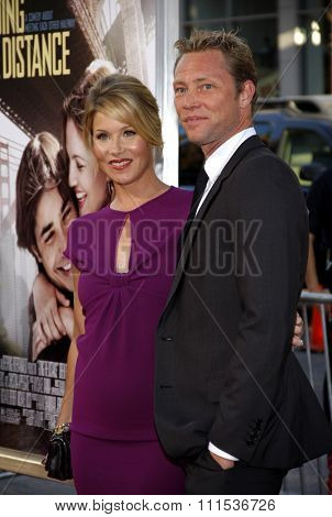 Christina Applegate and Martyn LeNoble at the Los Angeles premiere of 'Going The Distance' held at the Grauman's Chinese Theater in Hollywood on August 23, 2010.