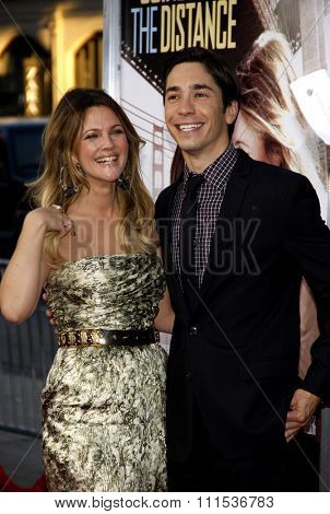 Drew Barrymore and Justin Long at the Los Angeles premiere of 'Going The Distance' held at the Grauman's Chinese Theater in Hollywood on August 23, 2010.