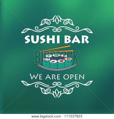Vintage Sushi Bar Signage