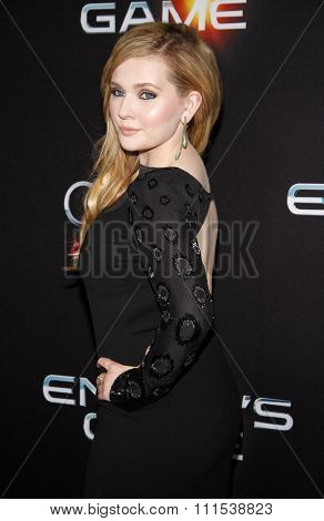 Abigail Breslin at the Los Angeles premiere of