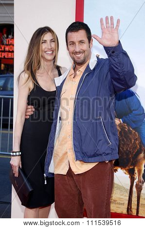 Adam Sandler and Jackie Sandler at the Los Angeles premiere of