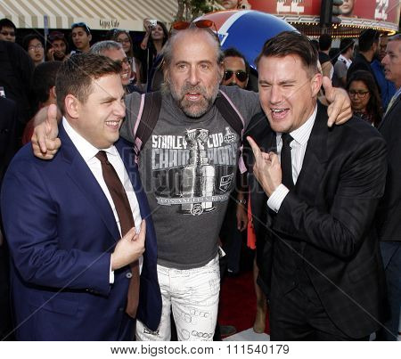 Peter Stormare, Channing Tatum and Jonah Hill at the Los Angeles premiere of