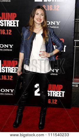 Vail Bloom at the Los Angeles premiere of '21 Jump Street' held at the Grauman's Chinese Theater in Hollywood on March 13, 2012.