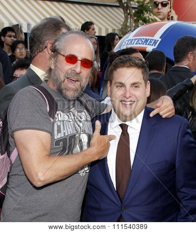 Peter Stormare and Jonah Hill at the Los Angeles premiere of