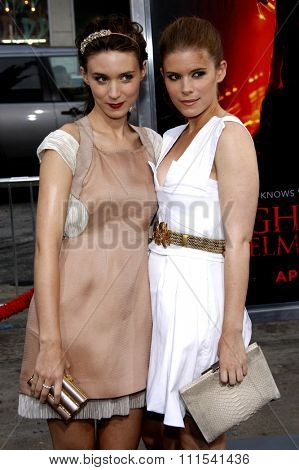 Rooney Mara and Kate Mara at the Los Angeles premiere of 'A Nightmare On Elm Street' held at the Grauman's Chinese Theatre in Hollywood on April 27, 2010.