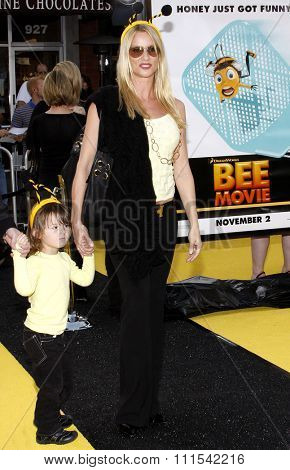 Nicollette Sheridan at the Los Angeles premiere of 'Bee' held at the Mann Bruin Theater in Westwood on October 28, 2007.
