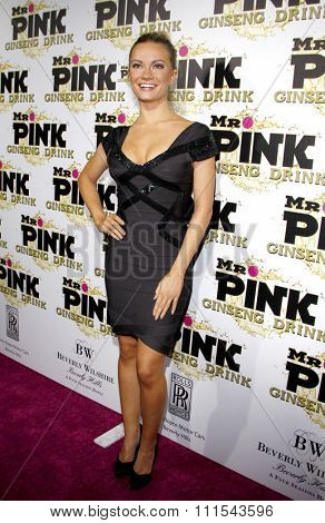 Caitlin O'Connor at the Mr. Pink Ginseng Drink Launch Party held at the Regent Beverly Wilshire Hotel in Beverly Hills, USA on October 11, 2012.