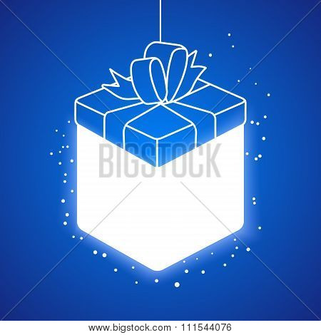 Lighting Linear Gift Box At Blue