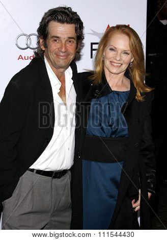 Marg Helgenberger and Alan Rosenberg at the AFI FEST 2009 Screening of 'The Road' held at the Grauman's Chinese Theater in Hollywood, USA on November 4, 2009.