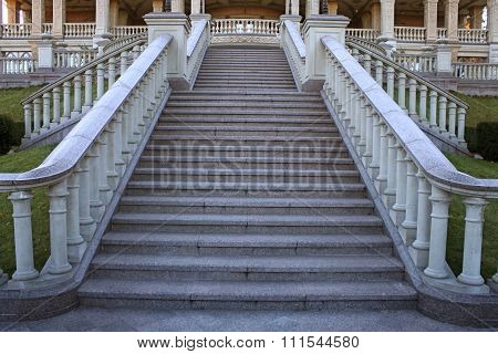 Beautiful Classical Mansion Staircase In The Park