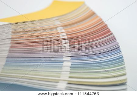 Color guide, palette of different colors