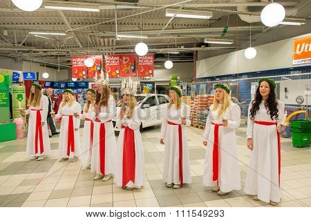 Lucia celebration in Sweden