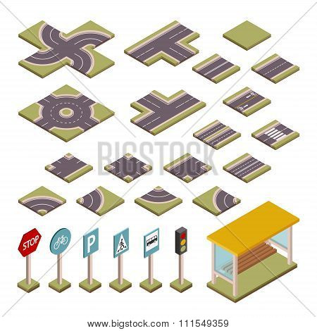 Road vector design elements