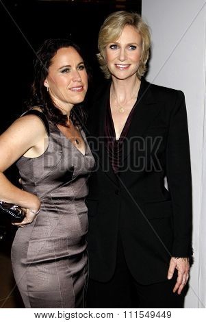 Jane Lynch and Lara Embry at the 22nd Annual Producers Guild Awards held at the Beverly Hilton hotel in Beverly Hills, USA on January 22, 2011.
