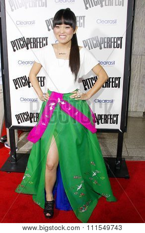 Hana Mae Lee at the Los Angeles premiere of 'Pitch Perfect' held at the ArcLight Cinemas in Hollywood, USA on September 24, 2012.