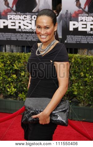 Tia Carrere at the Los Angeles premiere of 'Prince Of Persia: The Sands Of Time' held at the  Grauman's Chinese Theatre in Hollywood, USA on May 17, 2010.