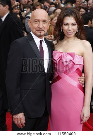 Sir Ben Kingsley and Daniela Lavender at the Los Angeles premiere of 'Prince Of Persia: The Sands Of Time' held at the Grauman's Chinese Theatre in Hollywood, USA on May 17, 2010.