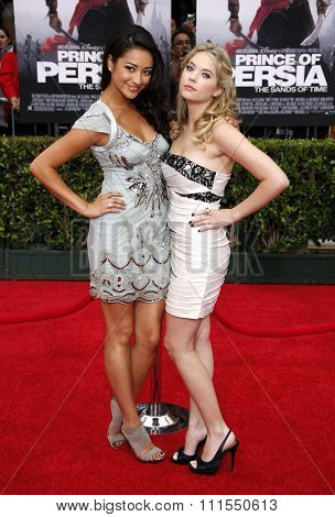Shay Mitchell and Ashley Benson at the Los Angeles premiere of 'Prince Of Persia: The Sands Of Time' held at the  Grauman's Chinese Theatre in Hollywood, USA on May 17, 2010.