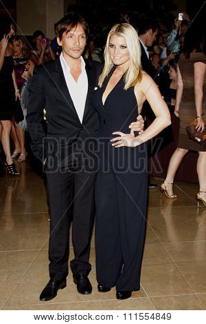 Jessica Simpson and Ken Paves at the Operation Smile's 8th Annual Smile Gala held at the Beverly Hilton Hotel in Beverly Hills, USA on October 2, 2009.