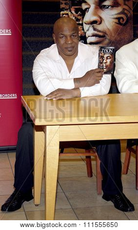 Mike Tyson promotes the Blu-ray and DVD 'Tyson' held at the Borders in Hollywood, USA on August 18, 2009.