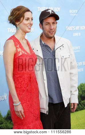 Eva Amurri Martino and Adam Sandler at the Los Angeles premiere of 'That's My Boy' held at the Westwood Village Theater in Los Angeles, USA June 4, 2012.