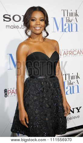 Gabrielle Union at the Los Angles premiere of 'Think Like a Man' held at the ArcLight Cinemas in Hollywood, USA on February 9, 2012.