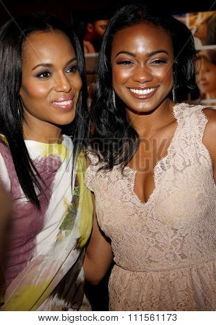 HOLLYWOOD, CA - APRIL 19, 2010: Kerry Washington and Tatyana Ali at the Los Angeles premiere of 'Mother and Child' held at the Egyptian Theater in Hollywood, USA on April 19, 2010.