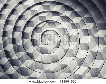Abstract Monochrome Background With Spiral