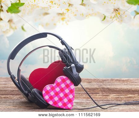 Romantic music concept