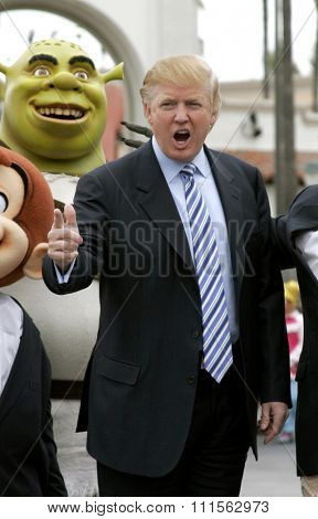 UNIVERSAL CITY, CA - MARCH 2006: Donald Trump kicks off the sixth season casting call search for The Apprentice held in the Universal Studios Hollywood, USA on March 10, 2006.