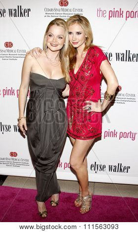 SANTA MONICA, CA - SEPTEMBER 12, 2009: Ashley Jones and Marisa Coughlan at the 5th Annual Pink Party held at the La Cachette Bistro in Santa Monica, USA on September 12, 2009.