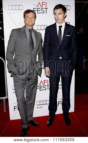 HOLLYWOOD, CA - NOVEMBER 05, 2009: Colin Firth and Nicholas Hoult at the AFI FEST 2009 Screening of 'A Single Man' held at the Grauman's Chinese Theater in Hollywood, USA on November 5, 2009.