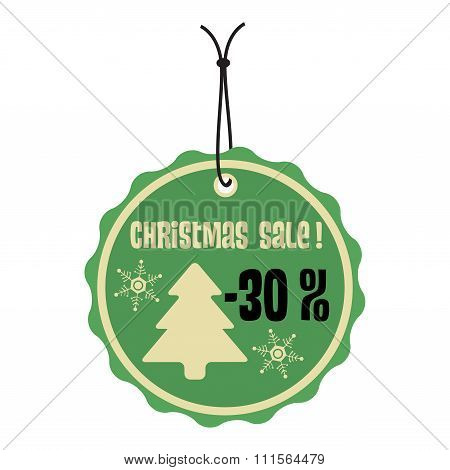 Christmas sale green tag